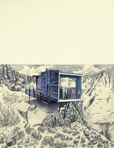 Sans titre Crayon et collage sur papier 80x60 cm 2014
